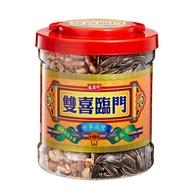 《盛香珍》雙喜臨門堅果瓜子禮桶(無調味綜合果+香瓜子)640g/桶-附提把