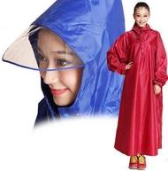 【連體雨衣-特大帽檐-單人-牛津布-1件/組】戶外帶袖長袖步行連體雨衣踏板電動車加厚雨衣-726003