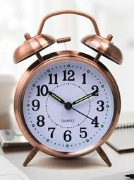 鬧鐘 歐式創意學生用鬧鐘男女生靜音床頭夜光貪睡鐘表超大聲音機械鬧鈴 【晶彩生活】