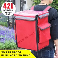 42L food delivery bag thermal bag delivery backpack insulated bag motocycle insulated bag delivery pizza delivery bag