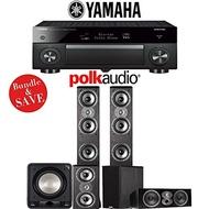 (Polk Audio) Polk Audio TSi 400 5.1-Ch Home Theater Speaker System with Yamaha AVENTAGE RX-A1070B...