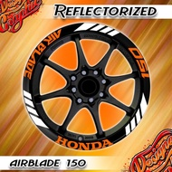 【Ready Stock】✟Airblade Honda 150 Mags Reflectorized Sticker Decal