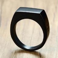 แหวนทองคำขาวสีดำสำหรับผู้ชาย