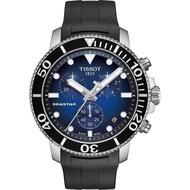 【TISSOT 天梭】Seastar 海星300米潛水石英錶-橡膠款(T1204171704100)