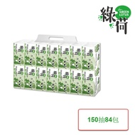 Green Lotus 綠荷 柔韌抽取式花紋衛生紙150抽x14包x6袋