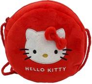 Hello Kitty 絨毛圓型小側背袋