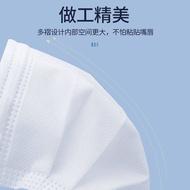 Mask Mask Mask Dewasa White Blue Black Lebur Kain Non-tenunan Debu dan bernafas 20 Pek Borong