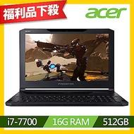 Acer PT715-51-77Z2 15吋筆電(i7-7700/GTX 1060/16G/512G SSD/黑/福利品)
