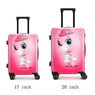 กระเป๋าเดินทางเด็กกระเป๋าเดินทางมีล้อ17 ''พกพา20นิ้วกระเป๋าเดินทางสำหรับกระเป๋าเดินทางเด็กผู้หญิงเด็กกระเป๋าบนล้อ