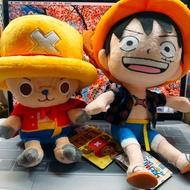 ✨正版航海王喬巴魯夫6吋坐姿娃娃 玩偶 海賊王 斗篷 夏天 變裝 吊飾