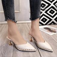 🎅สินค้าสุดฮิต🎅รองเท้าคัชชูผู้หญิง ส้นสูงทรงทางการ สวยหรูน่ารักแฟชั่นสำหรับผู้หญิงสบายๆหนาส้นสูงส้นสูงรองเท้าแตะรองเท้าผู้หญิง al Shoes Women sandals