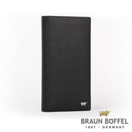 【BRAUN BUFFEL】德國小金牛 HOMME-M系列17卡長夾(黯黑)BF306-301-BK