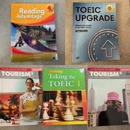 Reading Advantage4;Toeic Upgrade;Tourism;Talking the Toeic1