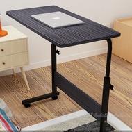 簡易筆記本電腦桌80x40cm可移動升降電腦桌 床上書桌 可移動懶人桌 床邊桌【AM165】◎123便利屋◎
