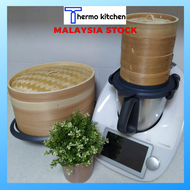Thermomix Accessories - High Quality High Quality Bamboo Steam Basket (Oval Shape)Special for Thermomix Tm5/Tm6   美善品小美多功能料理機配件 - 蒸笼锅小美椭圆形竹柳杉木蒸包子不滴水两笼一盖