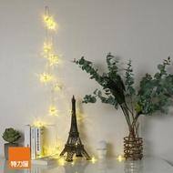 【特力屋】USB星星燈串-金色圓球黃光