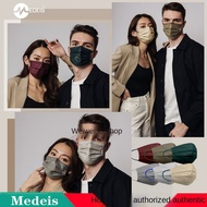 C4✓Korea imported MYDAYS adult flat Medeis masks personality three-layer fashion printing color stars the same style