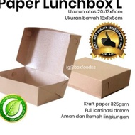 Kraft Paper Lunch Box - Large Contents 100pc Food Grade Eco-Friendly (On Trend)