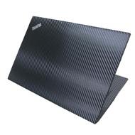 【Ezstick】Lenovo ThinkPad X390 X395 黑色立體紋機身貼(含上蓋貼、鍵盤週圍貼、底部貼)