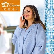 【Gemini 雙星】蜂巢格紋浴袍-成人(日系紗布繁瑣工法織造蜂巢材質的浴袍)