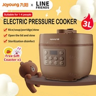 【Line Friends】Multifunctional Electric Pressure Cooker Co-branded Joyoung 3L Mini Smart Household Pressure Cooker Cute Rice Cooker
