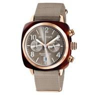BRISTON CLUBMASTER 經典雙眼計時手錶-奶茶色/40mm