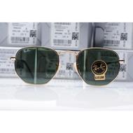 Original Italy Rayban Hexagonal Flat Sunglasses RB3548 001