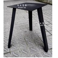 【元大家具行】全新扁管三角桌腳 加購 餐桌腳 客製桌腳 訂做桌腳 黑鐵腳 鐵製桌腳 造型桌腳 工業桌腳