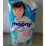 🔊現貨日本原裝moony超薄褲型紙尿褲男女生L.XL.XXL