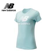 【NEW BALANCE】NB 經典Logo短袖上衣_AWT91546DRZ_女性_淺藍(亞版 版型正常)