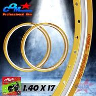 ล้อ COM AKRONT 1.40 X 17 ทูโทน จำนวน 2 วง ล้อคอม อาก้อน ทอง-เงิน ขนาด 1.40 ขอบ 17 ของแท้ การันตีของแท้ 100 เปอร์เซนต์ ราคาพิเศษสุดๆ