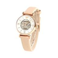 Emporio Armani Women's White Dial Leather Band Watch - AR60001