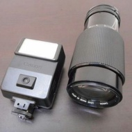 收藏 台北  二手 鏡頭  canon fd 35~105mm f3.5 macro 70~210mm 188a 閃光燈