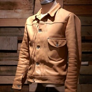 High Large Leathers Guthrie ww2 馬皮 原色皮衣 38 夾克 lewis leathers