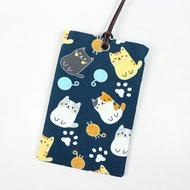 悠遊卡 證件套 名片卡套 卡袋- 圓圓 貓 (籃)