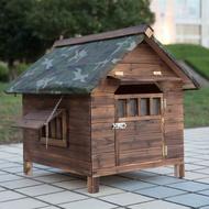 Wooden dog house rainproof dog house waterproof dog house golden retriever teddy house outdoor indoor dog house outdoor