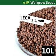 10L LECA 2-4mm (Clay Pebbles / Clay Balls / Hydroton) 陶粒(细)  for Hydroponics & Aquaponics / Mulching Use