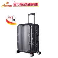 [現貨免運]Arowana箱王 川字鋁框-20吋-行李箱(立體髮絲紋/專利避震彈簧輪/鋁框拉桿箱)