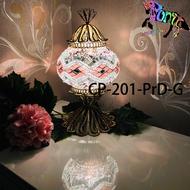 馬賽克土耳其手工銅雕燈飾 土耳其燈 夜燈直徑13cm C-pony 燈飾CP-201-PrD