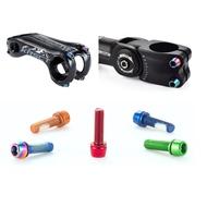 CHOOEE Bicycle Stem Bolt 6 pcs,Steel M5x18mm Screw Bolts