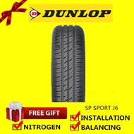 Dunlop Sp Sport J6 tyre tayar tire(With Installation) 165/60R13 175/70R13 165/60R14 165/55R14 185/60R14 185/65R14 185/70R14 175/50R15 185/60R15 185/65R15 195/60R15 195/65R15 205/65R15