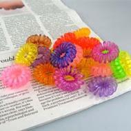 電話線髮圈 韓系糖果色電話髮圈 不傷髮 漸層髮圈 鬆緊髮圈 髮飾 髮束 手環