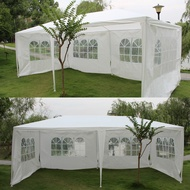 10' X 20' White Party Tent Gazebo Canopy with 6 Removable Sidewalls
