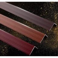 爆款熱賣#收邊條鋁合金7字型直角木地板壓條衣櫃邊條木紋L型收口條樓梯扣條