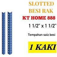 Besi Angle Rak  lubang 1 kaki/Besi Rak  /Slotted angle  bar/