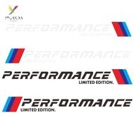 yld~2pcs Car Stickers M Performance Limited Edition Side Door Reflective Decals