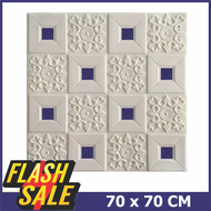 NAP - Wallpaper Dinding Foam 3D Batik foam Size 70 X 70 CM
