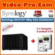 Synology DS1019+ Bundle With 16TB Seagate Ironwolf NAS Drive (2x8TB)