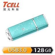 TCELL 冠元-USB3.0 128GB 絢麗粉彩隨身碟-Tiffany藍