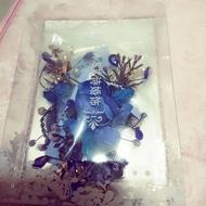 藍色森林系水鑽花朵的新娘造型頭飾